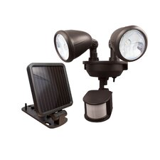 Solar-Powered Dual Head LED Security Spotlight
