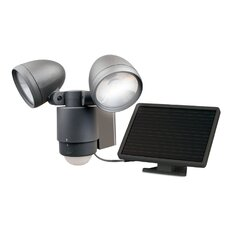 Bright Dual Head Solar Spotlight