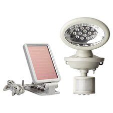 Solar Powered 14 LED Security Spotlight