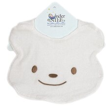<strong>Under the Nile</strong> Animal Pals Bear Bib in White