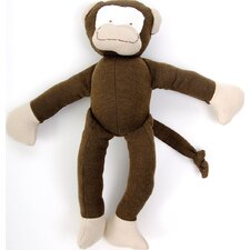 Everyday Denim Monkey Toy in Brown