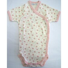 Twenty-Four Seven Short Sleeve Side Snap Babybody Baby Clothing in Pink Dots