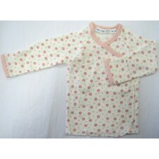 <strong>Under the Nile</strong> Twenty-Four Seven Long Sleeve Side Snap Shirt in Pink Dots