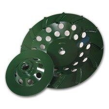 "7"" T5G Utility Green Turbo Cup Grinder 24 Segments"