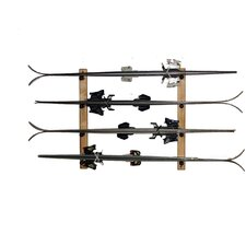 Ski Oak Storage 4 Space Horizontal
