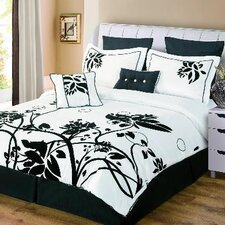 Chelsea 8 Piece Flocked Comforter Set