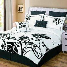 Chelsea 8 Piece Flocked Comforter Set