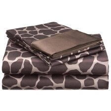 Satin Giraffe Sheet Set