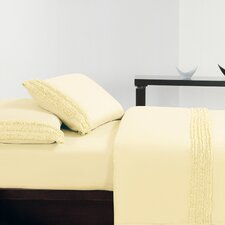 <strong>Luxury Home</strong> Ruffle Microfiber Sheet Set
