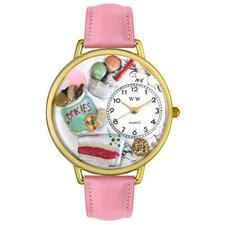 Unisex Dessert Lover Watch in Gold