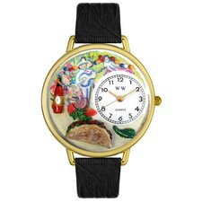Unisex Taco Lover Watch in Gold