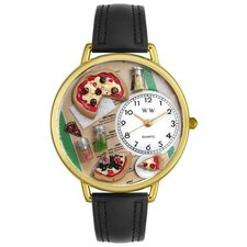 Unisex Pizza Lover Watch in Gold