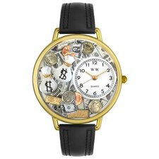 Unisex Banker Watch in Gold