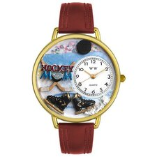 Unisex Hockey Mom Watch in Gold