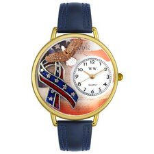 Unisex American Patriotic Watch in Gold