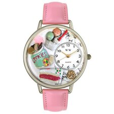 Unisex Dessert Lover Watch in Silver