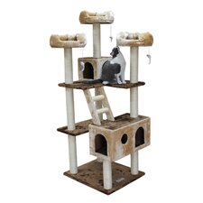 "<strong>Kitty Mansions</strong> 73"" Beverly Hills Cat Tree in Brown and Beige"