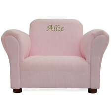 Little-Furniture Upholstered Personalized Kid's Gingham Mini Chair
