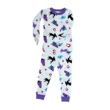 <strong>New Jammies</strong> Mitted Jammie Stallion Girls Organic Pajama