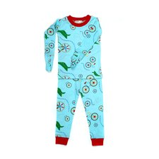 <strong>New Jammies</strong> Mitted Jammie Bicycles Organic Pajama