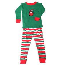 Santa Bear Stripes Pajamas