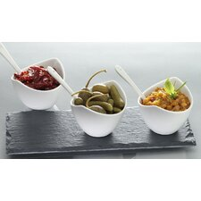 Slate 7 Piece Condiment Set