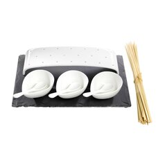 <strong>Luigi Bormioli</strong> Slate and Porcelain 8 Piece Serving Set