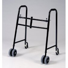 "<strong>TFI</strong> 6"" Wheel Universal Walker with Brakes in Black"