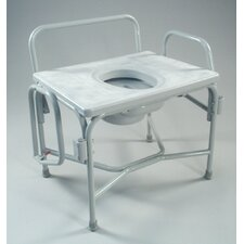 Wide Drop Arm Commode in Dove Gray