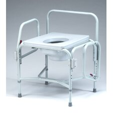 <strong>TFI</strong> Heavy Duty Drop Arm Commode in Dove Gray