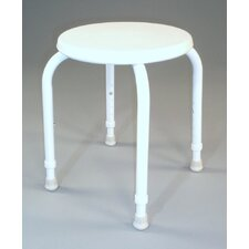 Round Shower Stool in White