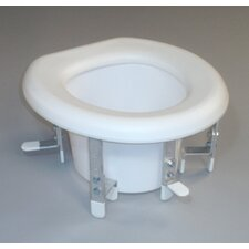 Bracket Raised Toilet Seat with Blow Molded Seat