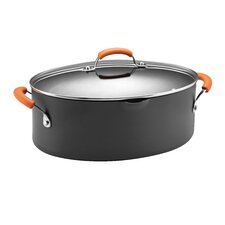 <strong>Rachael Ray</strong> Hard Anodized II Nonstick 8 Qt. Covered Oval Pasta Pot