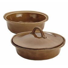 Cucina 3 Piece Round Baker and Lid Set