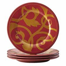 Gold Scroll Appetizer Plate (Set of 4)