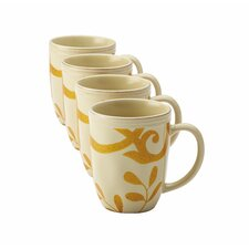 Gold Scroll Mug (Set of 4)