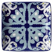 "Ikat 6"" Square Appetizer Plate (Set of 4)"