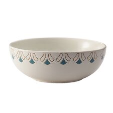 "Pendulum Printed Round Stoneware 10"" Serving Bowl"
