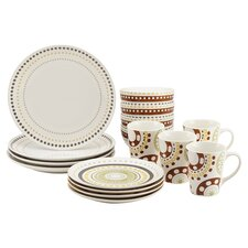 Circles & Dots 16 Piece Dinnerware Set