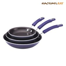 Porcelain 3 Piece Nonstick Skillet Set