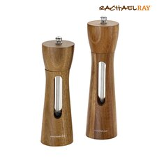 Tools and Gadgets 2 Piece Acacia Salt and Pepper Grinder Set