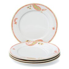 "Paisley 10.5"" Dinner Plates (Set of 4)"