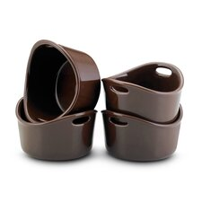 Bubble and Brown 4 Piece 10 oz. Ramekin Set