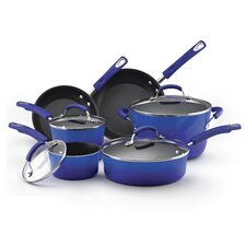Hard Enamel Nonstick 10-Piece Cookware Set