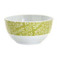 "Curly-Q Green 5.5"" Cereal Bowls: Set of (4)"