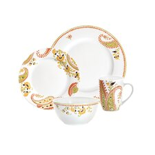 Dinnerware Paisley 4 Piece Place Setting