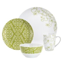 Curly-Q Green 4-Piece Place Setting