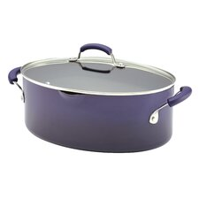 Porcelain II Nonstick 8 Qt. Covered Oval Pasta Pot