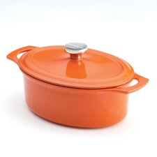<strong>Rachael Ray</strong> Cast Iron 3.5 Quart Covered Oval Casserole