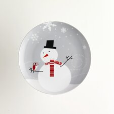 "<strong>Rachael Ray</strong> Little Hoot & the Snowman 8"" Dessert Plates: Set of (4)"